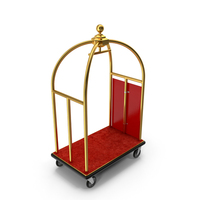 Gold Luxury Hotel Luggage Trolley Cart PNG & PSD Images