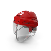 Hockey Helmet Red PNG & PSD Images