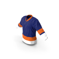 Hockey Jersey Blue PNG & PSD Images