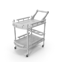 Hotel Style Trolley Serving Cart PNG & PSD Images