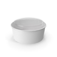 Paper Food Bowl with Clear Lid for Soup for Salad 40 Oz 1300 ml PNG & PSD Images