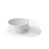 Paper Food Bowl with Clear Lid for Soup for Salad 40 Oz 1300 ml Open PNG & PSD Images