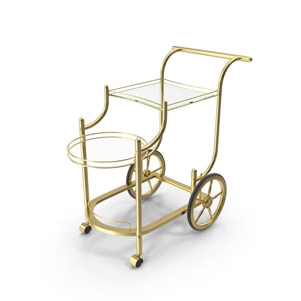 Luxury Golden Serving Trolley PNG & PSD Images