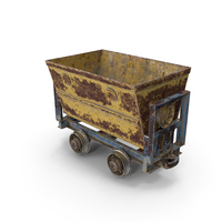 Mining Cart Rusted PNG & PSD Images