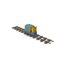Mining Locomotive on Railway Section Dusty PNG & PSD Images