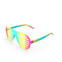 Party Rainbow Shutter Shades Glasses PNG & PSD Images