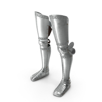 Plate Armor Medieval Leg Guard PNG & PSD Images