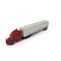 Semi Truck with Trailer Generic PNG & PSD Images