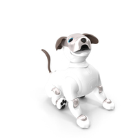 Sony Aibo 2017 Sitting Pose PNG & PSD Images