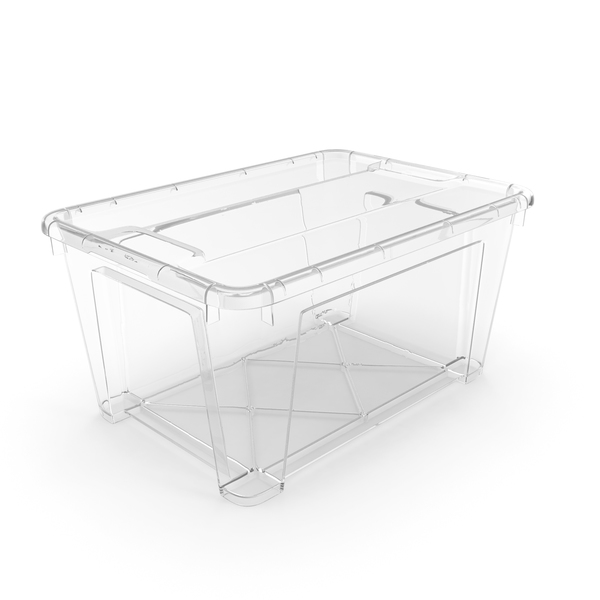 Transparent Plastic Container with Lid PNG & PSD Images