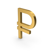 Gold Symbol Russian Ruble PNG & PSD Images