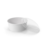 Paper Food Bowl with Clear Lid for Soup for Salad 50 oz 1500 ml Open PNG & PSD Images