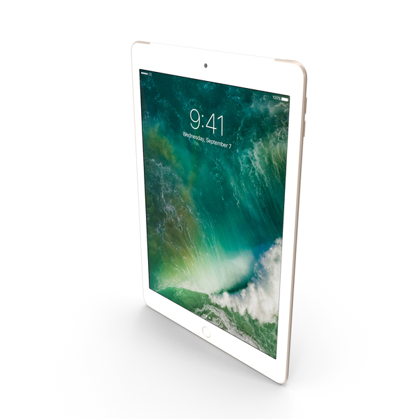 Apple iPad 9.7 (2017) WiFi+Cellular Gold PNG & PSD Images