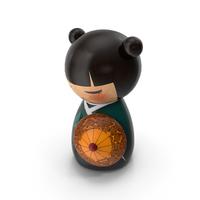 Mini Doll Geisha PNG & PSD Images