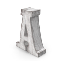 Wooden Decorative Letter A PNG & PSD Images