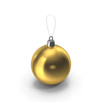 Christmas Tree Toy Gold PNG & PSD Images