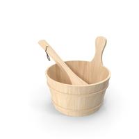 Wooden Sauna Bucket PNG & PSD Images