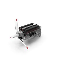 V12 Piston Aero Engine PNG & PSD Images