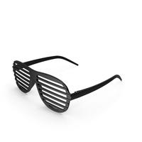 Vintage Black Plastic Shutter Shades Sunglasses PNG & PSD Images