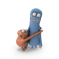 Two Plasticine Guys PNG & PSD Images