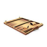 Wooden Backgammon Board Game Set PNG & PSD Images