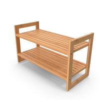 Wooden Stackable Shoe Rack PNG & PSD Images