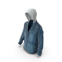 Men's Jean Jacket  Dark Blue PNG & PSD Images