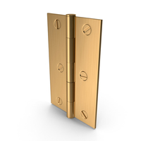 Hinge Golden With Screwhead PNG & PSD Images
