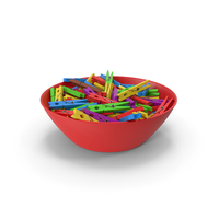 Clothes Pegs in Bowl PNG & PSD Images