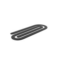 Plastic Paper Clip Black PNG & PSD Images