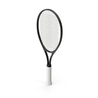 Tennis Racket Black PNG & PSD Images