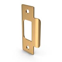 Door Lock Strike Plate Golden PNG & PSD Images