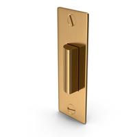 Door Lock Latch Golden With Screwhead PNG & PSD Images