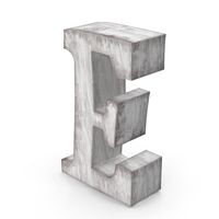 Wooden Decorative Letter E PNG & PSD Images