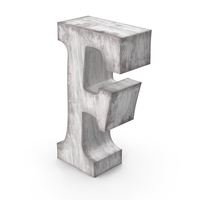 Wooden Decorative Letter F PNG & PSD Images