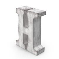 Wooden Decorative Letter H PNG & PSD Images