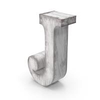 Wooden Decorative Letter J PNG & PSD Images