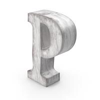 Wooden Decorative Letter P PNG & PSD Images