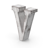 Wooden Decorative Letter V PNG & PSD Images