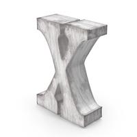 Wooden Decorative Letter X PNG & PSD Images