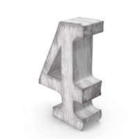 Wooden Decorative Number 4 PNG & PSD Images