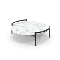 Flexform Ascanio Coffee Marble Table PNG & PSD Images