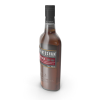 Auchentoshan 12 Years Old Whisky Bottle PNG & PSD Images