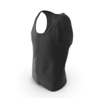 Men's Sleeveless T-Shirt Black PNG & PSD Images