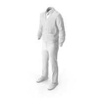 Men's Pants Waistcoat Shirt Shoes White PNG & PSD Images
