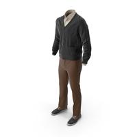 Men's Pants Waistcoat Shirt Shoes Mix PNG & PSD Images