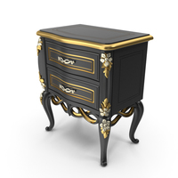 Black Signorini & Coco Baroque Nightstand PNG & PSD Images