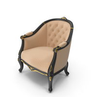 Black Signorini Coco  Forever 9536 Baroque Armchair PNG & PSD Images