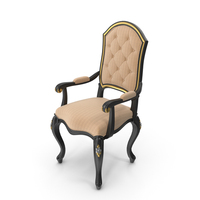Black Signorini Coco Forever 9524 Deep Buttoned Chair PNG & PSD Images