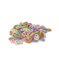 Pile of Mixed Yogurt Covered Pretzels PNG & PSD Images